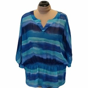 SML sport size XXL polyester sheer blouse